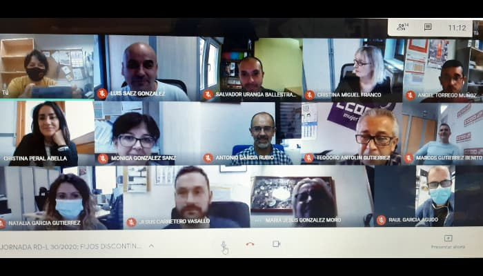 Video Conferencia Federación de Servicios de CCOO Castilla y León
