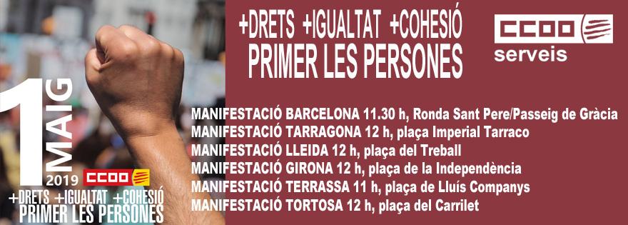 #1deMaig +DRETS +IGUALTAT +COHESIÓ  #PrimerLesPersones