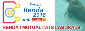Fes la RENDA 2018 amb CCOO incloent la minoració de les cotitzacions a les MUTUALITATS LABORALS