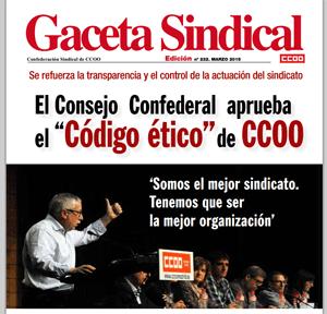 Gaceta Sindical - Toxo - CCOO - Códio Ético