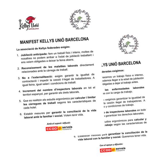 manifest Kellys Unión Catalunya
