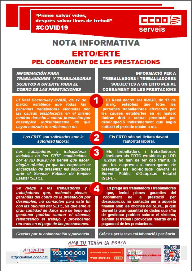 ERTRO ERTE TRÀMITS COBRAMENT PRESTACIONS