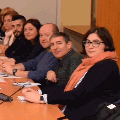 Membres de CCOO a la taula negociadora
