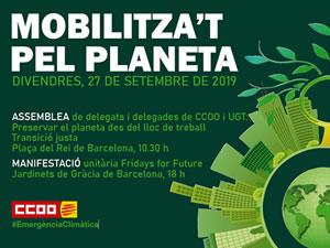 27 de setembre - Fridays for Future - Mobilitza´t pel planeta