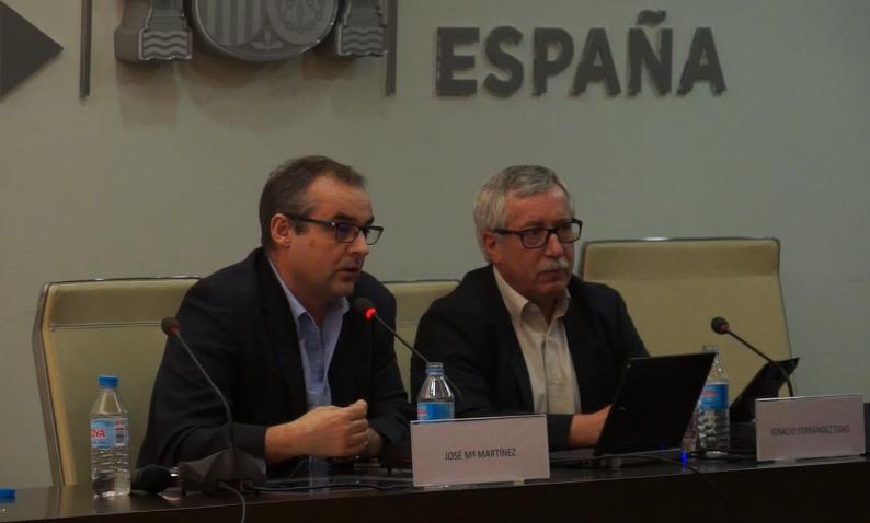José María Martínez e Ignacio Fernández Toxo