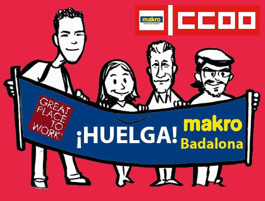 Huelga en Makro Badalona el próximo 22 de Junio de 2018