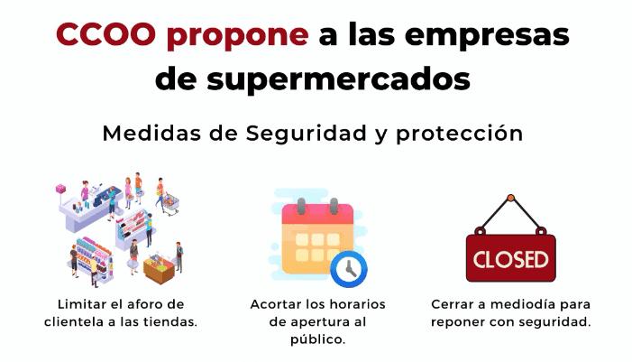 Propuestas ccoo coronavirus supermercados
