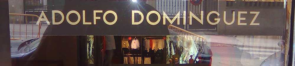 Tienda, comercio de Adolfo Dominguez. ERE en marcha