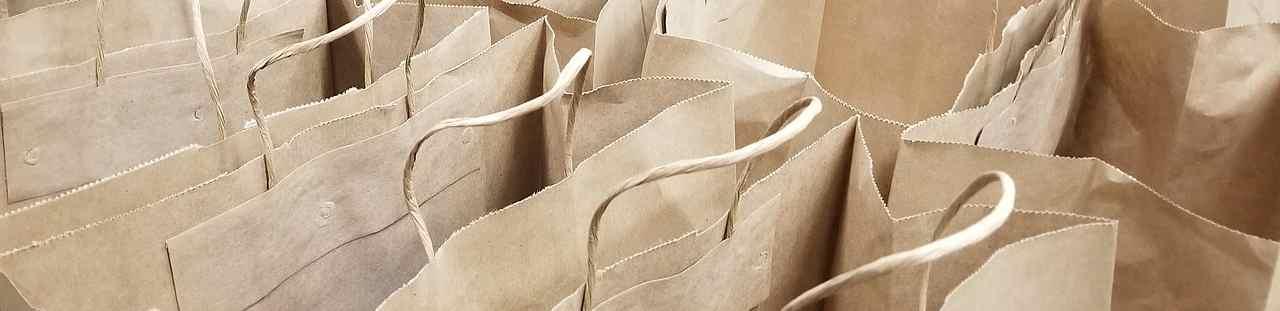Bolsas de papel.Comercio