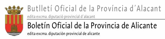 Boletin oficial provincia alicante