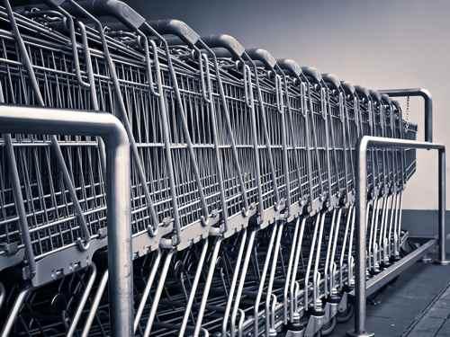 Carrito supermercado en comercio