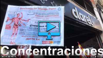 Video campaña CCOO en perfumerias Clarel