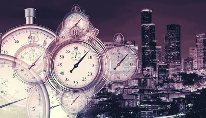 Cronometro en la ciudad. Horarios comerciales