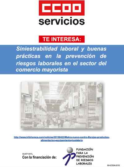 Folleto riesgos laborales comercio mayorista