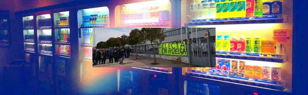 máquina vending huelga en Selecta