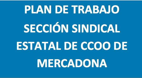 Plan de trabajo CCOO Mercadona