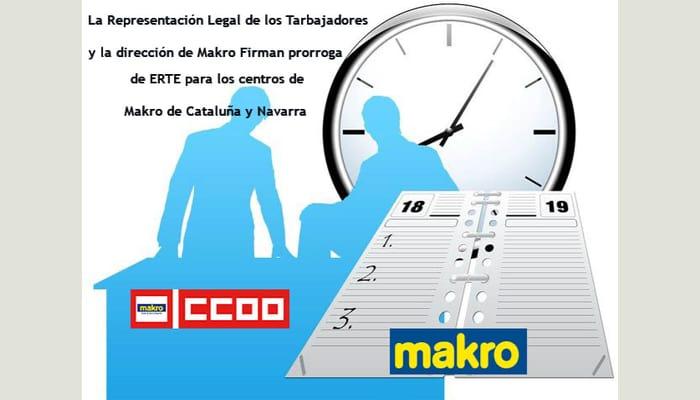 Prorroga ERTE Makro Navarra y Catalunya
