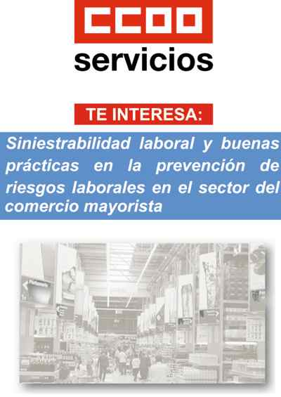 Folleto prevencion riesgos laborales sector del comercio mayorista