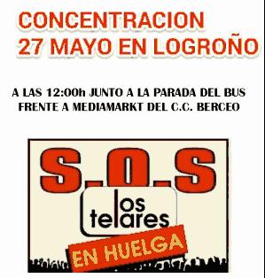 Huelga en Los Telares Logroño