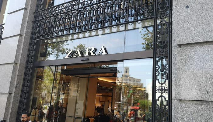 Tienda de ZARA enBarcelona. Grupo Inditex