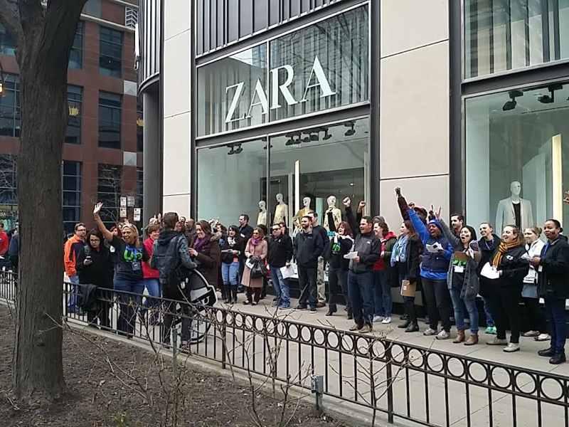 protestas Comercio: Zara en Chicago
