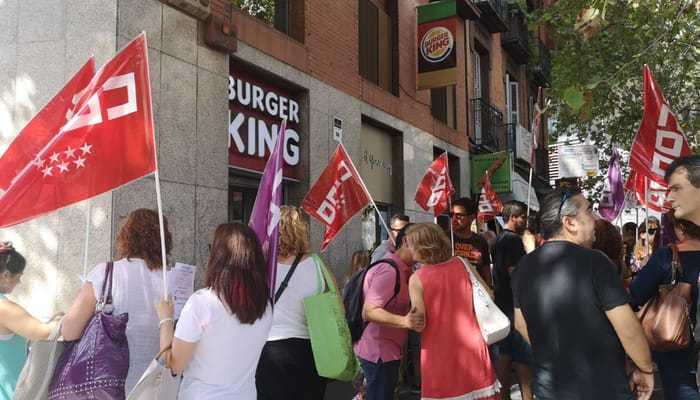 CCOO en Burger King