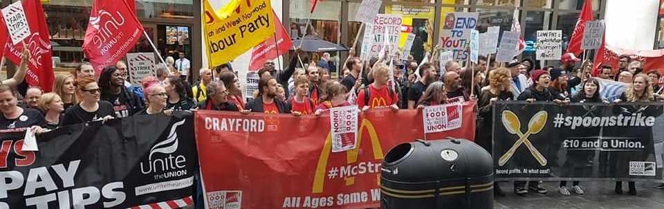 Comida rápida manifestación Londres