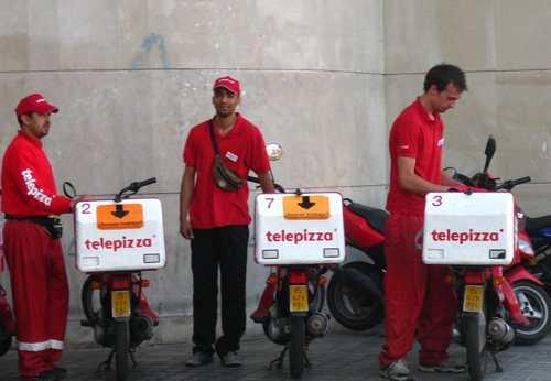 Repartidores de Telepizza