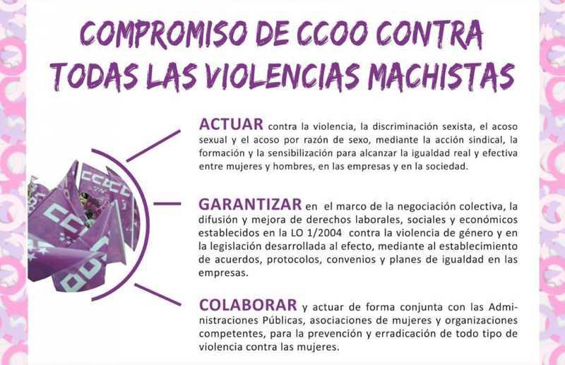 Compromiso CCOO ContraViolencia Machista