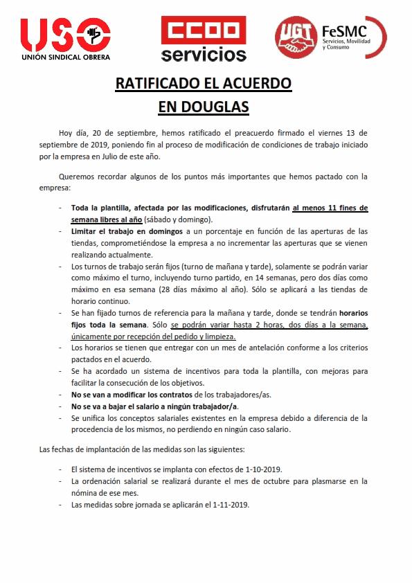 Comunicado Douglas