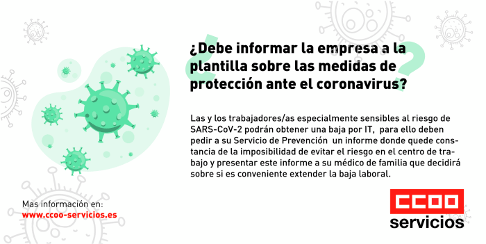 Informacion empresa coronavirus
