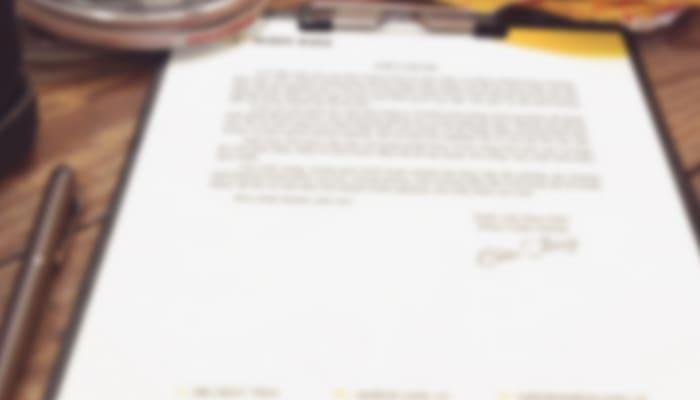 Imagen de un contrato