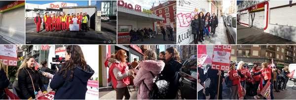 Huelga en Supermercados Dia. Exito. CCOO