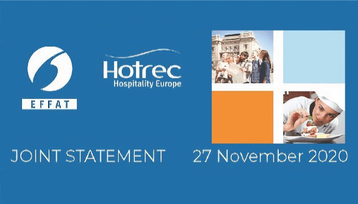 EFFAT Hotrec Declaración conjunta