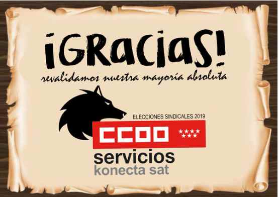 Eleciones sindicales en Konecta SAT, Contact Center. Gana CCOO