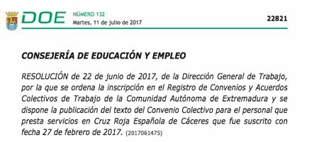convenio Cruz Roja Cáceres