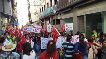 Manifestacion Los telares Mérida