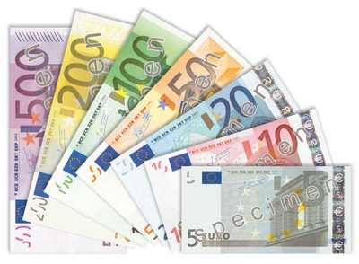 Billetes de Euro. Propuesta Salarial CCOO en Seguros