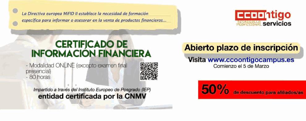 Curso Información productos financieros