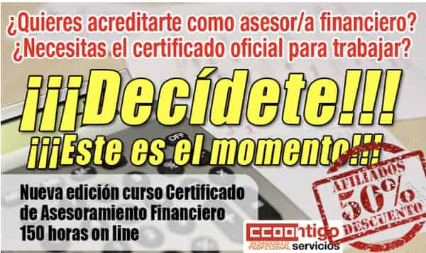 Certificado Asesor Financiero