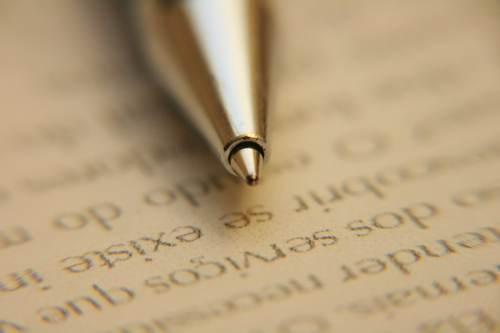 Imagen de bolígrafo. Convenio colectivo Entidades de financiación
