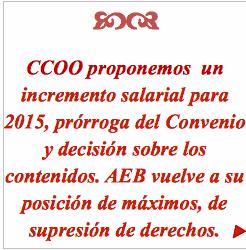 Propuesta ccoo convenio banca, aumento salarial 2015