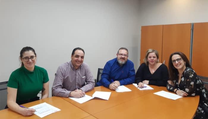Firma convenio entidades financieras