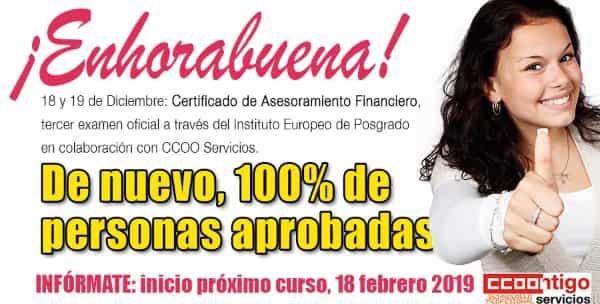 Certificado Asesor Financiero