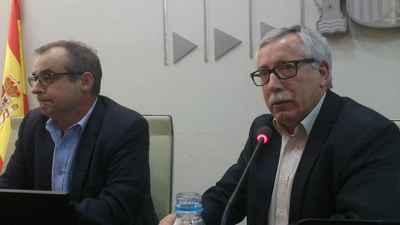 Jornada Secotr financiero Toxo y Jose Maria Martines