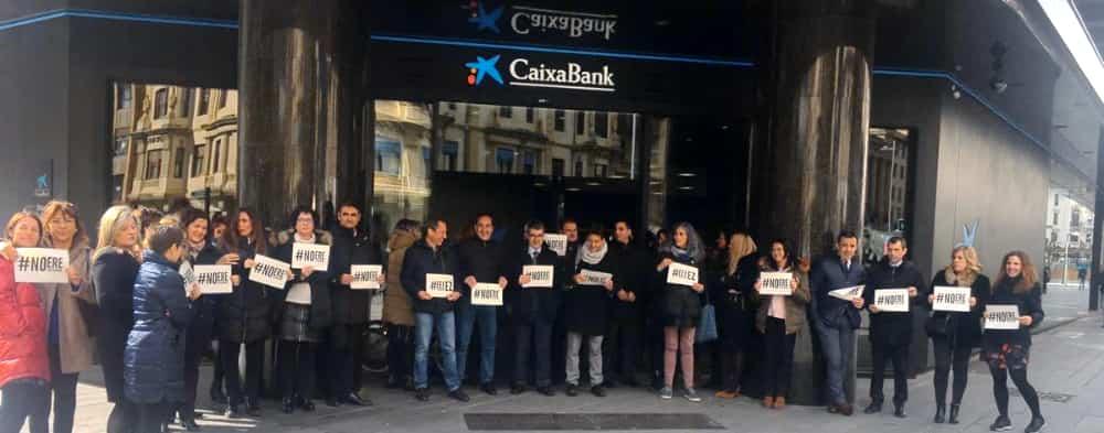 Protestas ere Caixabank