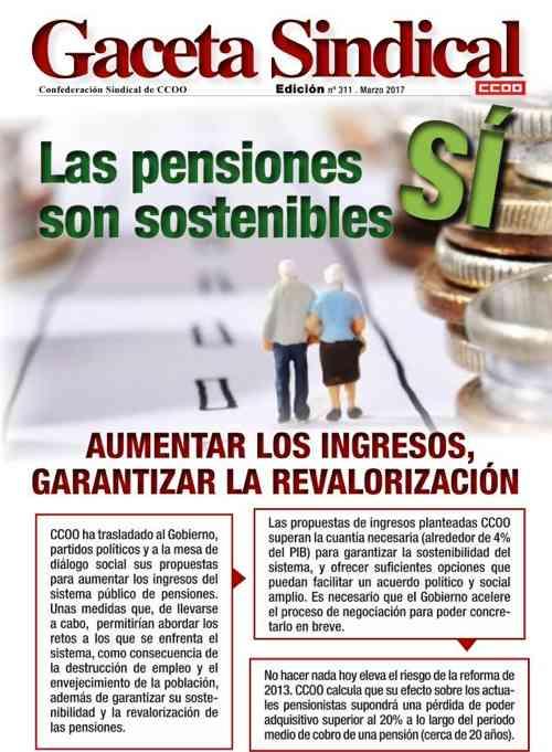 Gaceta sindical CCOO Pensiones