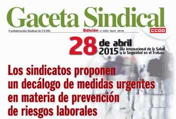Propuestas sindicales salud laboral