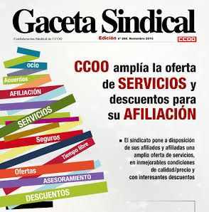 gaceta sindical servicios afiliacion CCOO