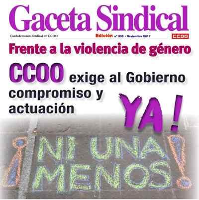 Gaceta sindical CCOO. Día erradicación violencia contra las mujeres. 25 Noviembre